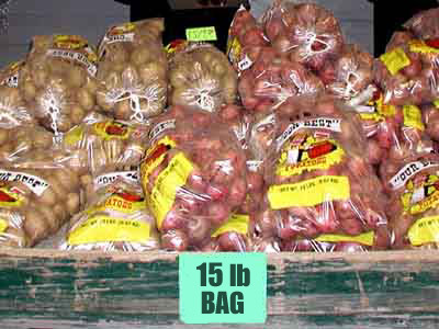 RED OR WHITE POTATOES, 15LB. BAG